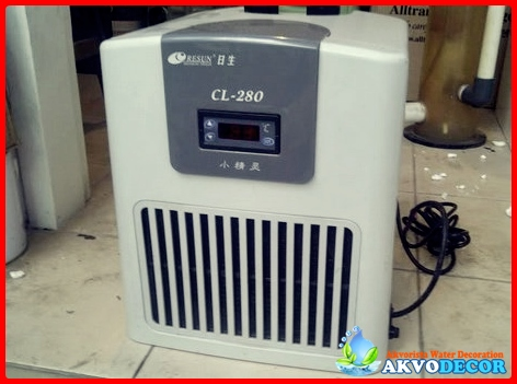 Chiller akuarium air laut