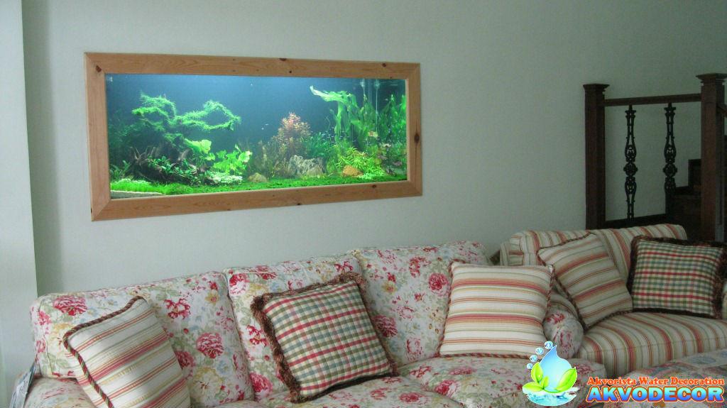 design aquascape dinding