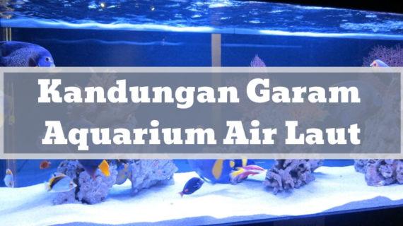 Mengontrol Kandungan Garam Aquarium Air Laut