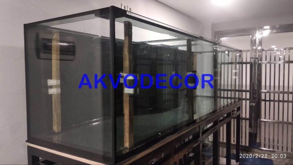 Hasil pengeleman kaca - Projek Aquarium Air Laut de Park BSD